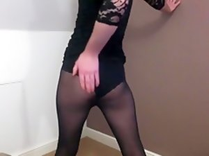 Best Homemade Shemale video with Lingerie, Solo scenes
