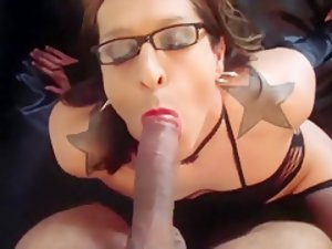 Hottest Amateur Shemale video with Guy Fucks Shemale, Blowjob scenes