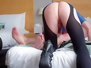 Incredible Amateur Shemale clip with Stockings, Brunette scenes