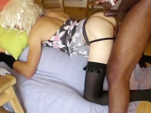 Fabulous Homemade Shemale record with Stockings, Interracial scenes