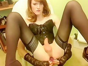 Exotic Homemade Shemale video with Solo, Stockings scenes
