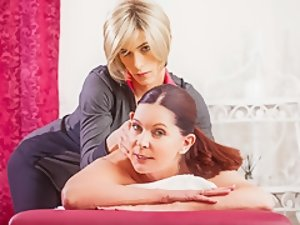 Magdalene St. Michaels & Nina Lawless in TS Massage Video